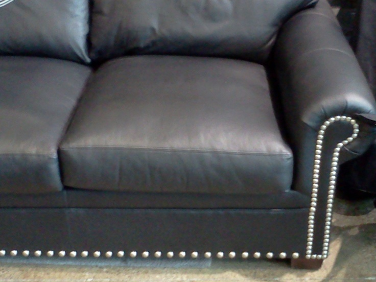 1000 images about studded furniture on pinterest for Leather studded couch