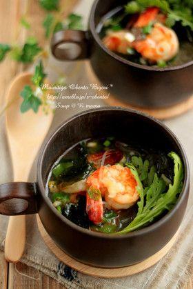 春雨とわかめの中華海老スープ♪ by アールmama [クックパッド] 簡単 ...