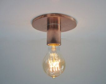 Minimalist Exposed Bulb Flush Mount Ceiling Light or Wall Sconce -The Lume - Industrial Bare Bulb - Indoor or Outdoor