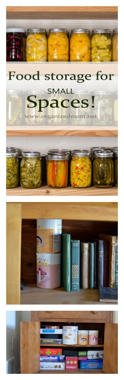 If you want to stock up on food storage, yet your living space is small- try these 5 places!!