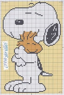 SNOOPY cross stich!! beautiful | REPINNED