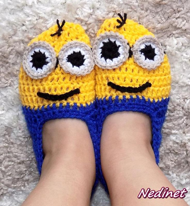 Crochet Minion slippers | Craftsy