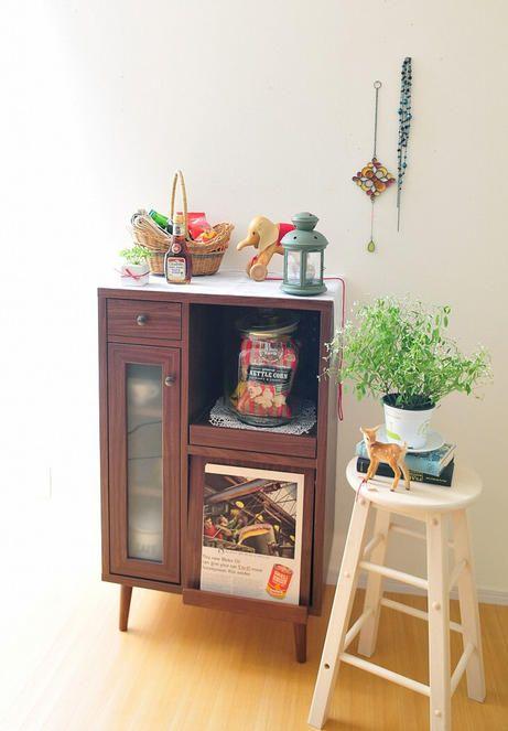 Edith_レンジ台(食器棚・キッチンボード)【HOME'S Style Market ... レトロテイストがお好みの方におすすめです。