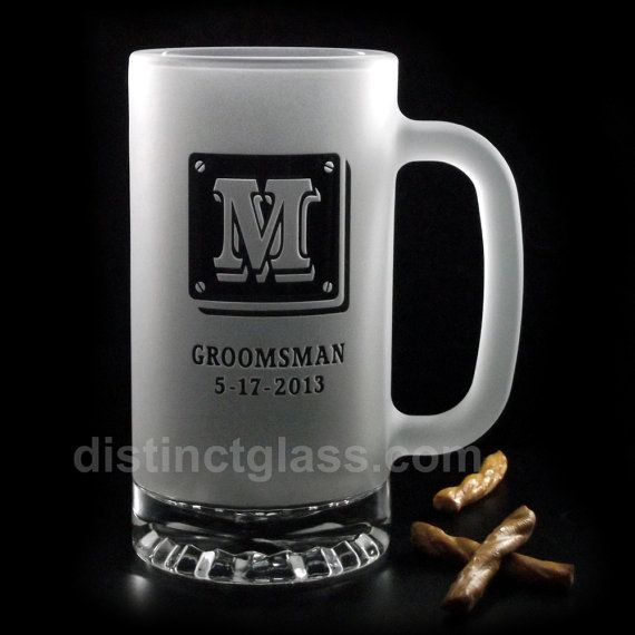 Your Big Day is deserving of a toast and this handsome beer mug is definitely toast-worthy. A great gift, certain to please your Best Man or