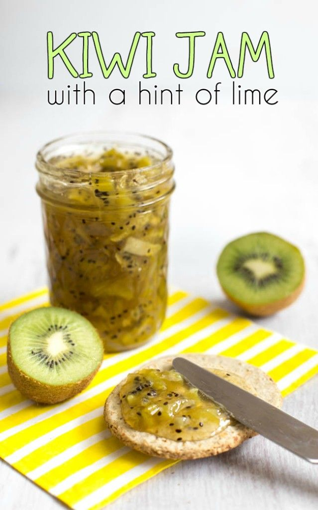 Homemade kiwi jam with a hint of lime. Who knew this flavour combination would work so well! It was easy too :)
