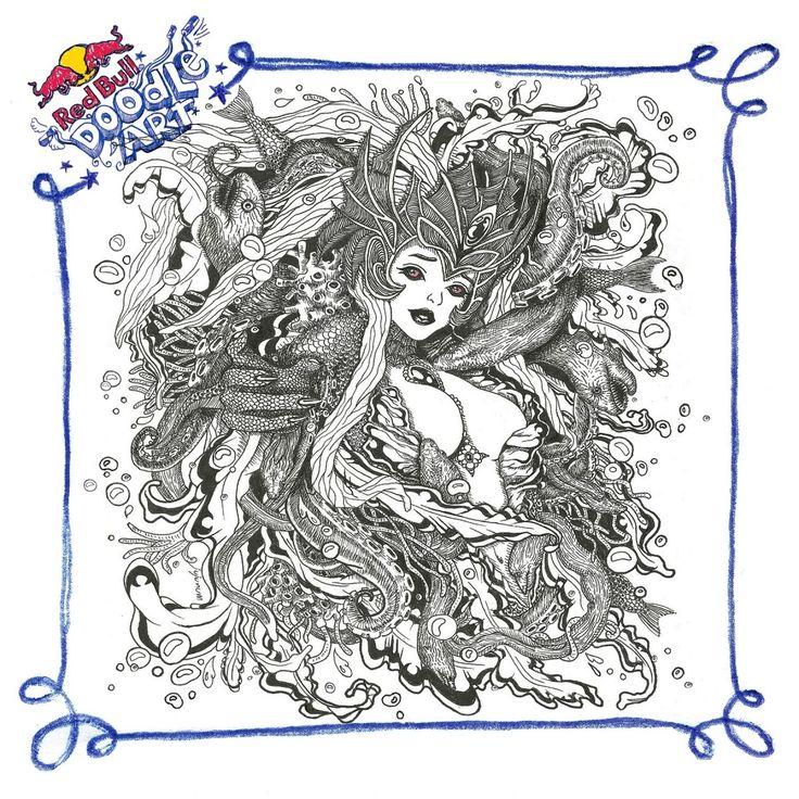 Red Bull Doodle Art paraskevi pavlidi