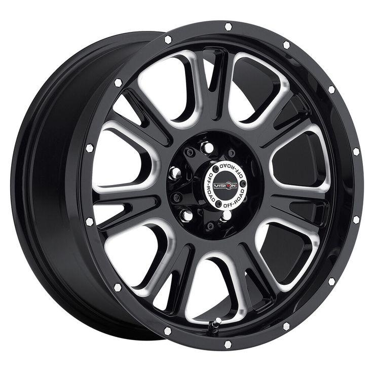 "20"" Vision 399 Fury Black Milled Wheel 20x9 8x170 12mm"