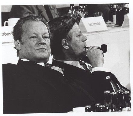 Barbara Klemm Willy Brandt /Helmut Schmidt