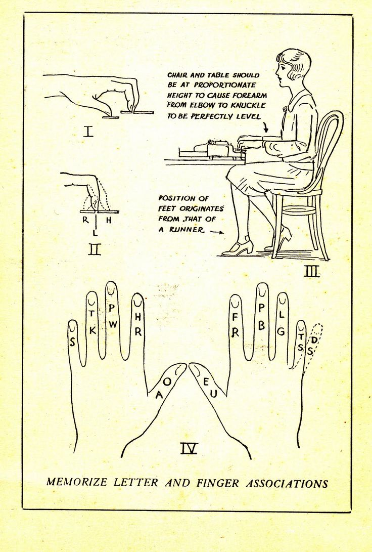Stenographer techniques - bahaha, the foot position slays me!