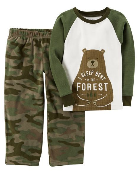 Toddler Boy 2-Piece Cotton & Microfleece PJs from Carters.com. Shop clothing & accessories from a trusted name in kids, toddlers, and baby clothes. https://presentbaby.com
