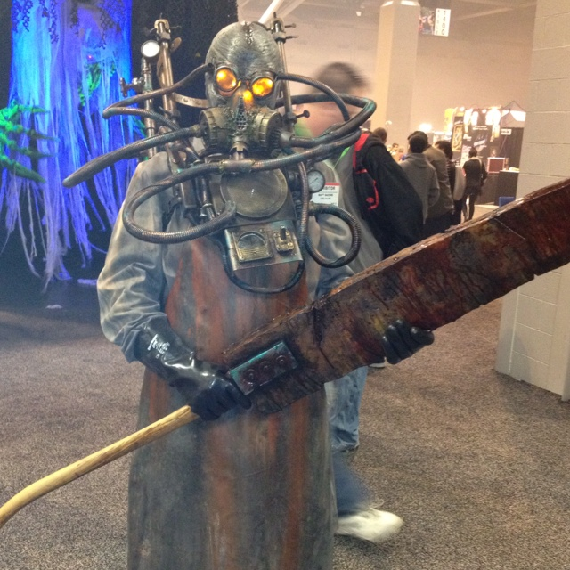 Found roaming the show floor at Transworld Halloween trade show in St. Louis MO 2012.  Created by Gore Galore, one of Kersey Valley Spookywoods favorite vendors.
