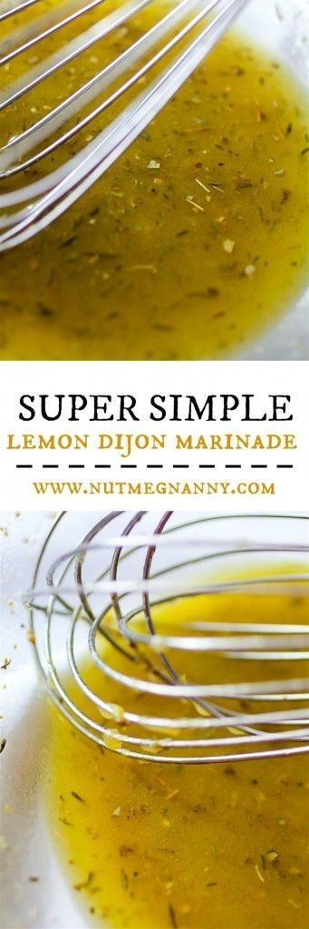 This super simple lemon Dijon marinade is the perfect go-to marinade. Use on chicken, fish or even beef! Ready in no time and totally delicious. You'll love this super simple recipe!