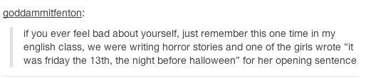 Right horror story for grammer freaks next halloween english essay