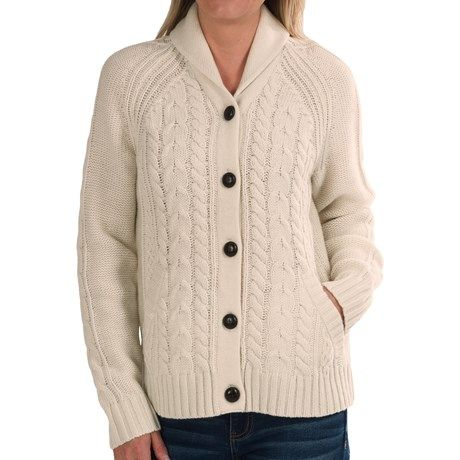 Woolrich Hannah Cable Cardigan Sweater - Wool Blend (For Women))