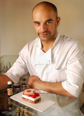 "Adriano Zumbo's Queen Valentine dessert - love the note accompanying the recipe ""For the experienced cook""! Is made up of 5 different recipes to assemble! Looks impressive tho'!"