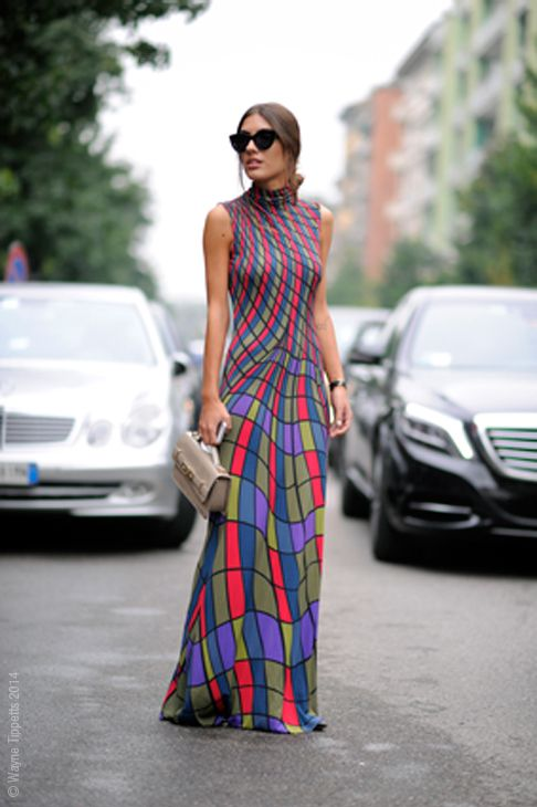 killer dress. #PatriciaManfield in Milan.   #streetstyle                                                                                                                                                     More