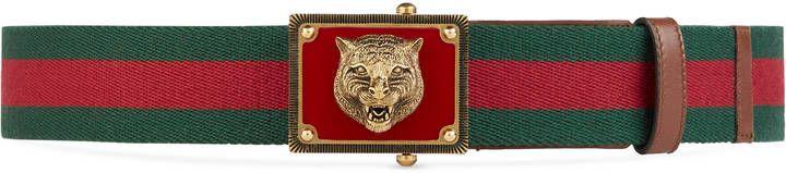 Web belt with feline head