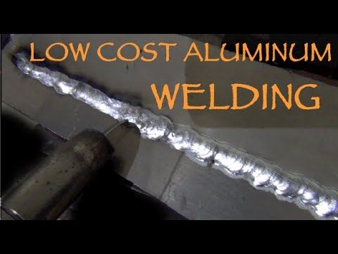 Aluminum MIG Welding With Basic Equipment (Under $500) and NO Spoolgun - YouTube