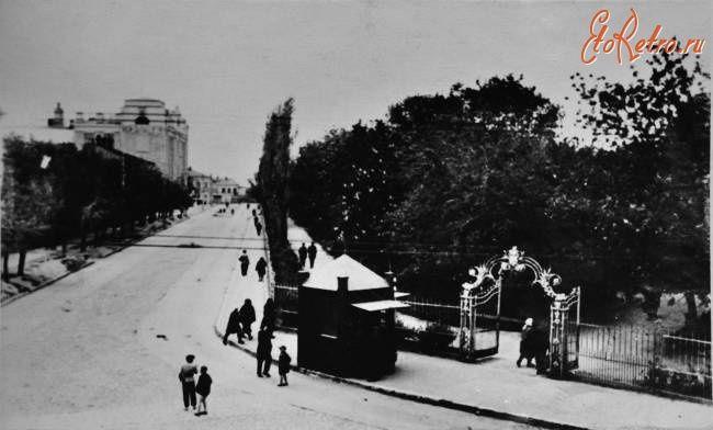 Саратов - Вход в сад Липки со стороны Армянской улицы