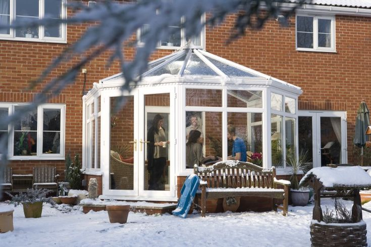 A Conservatory Built To Withstand All Weather Conditions Including Snow Good To Be Home Roof Design Building Conservatory
