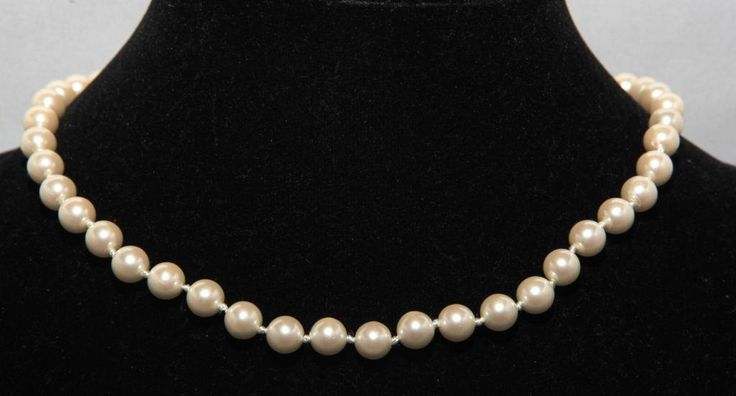 Single Strand Lucite Pearl Knotted Choker by GenusJewels on Etsy