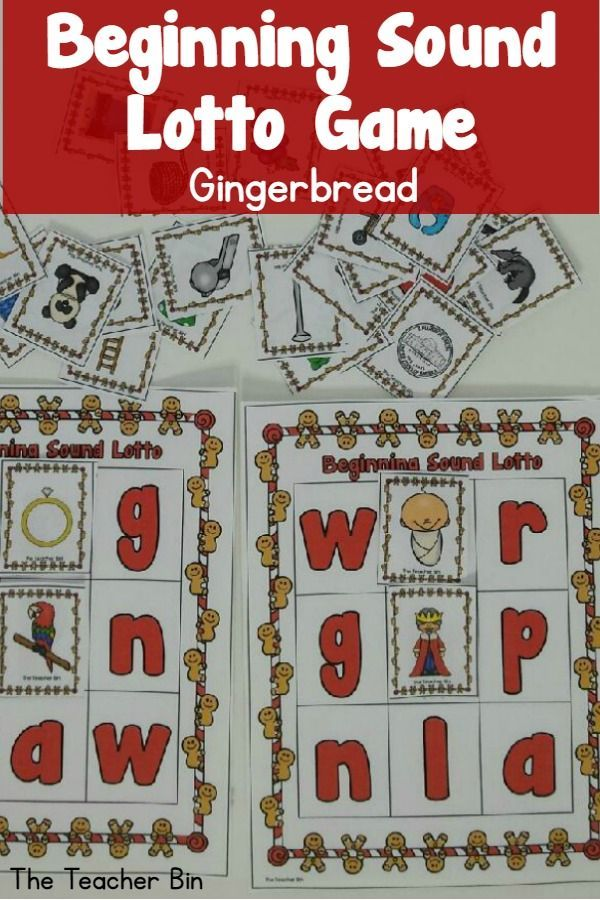 A great game for beginning sound.  There are 7 lotto boards  with letters W,B,R,G K, P, N, L A and 63 picture cards to match the sound. It is a December clipart  alternate.