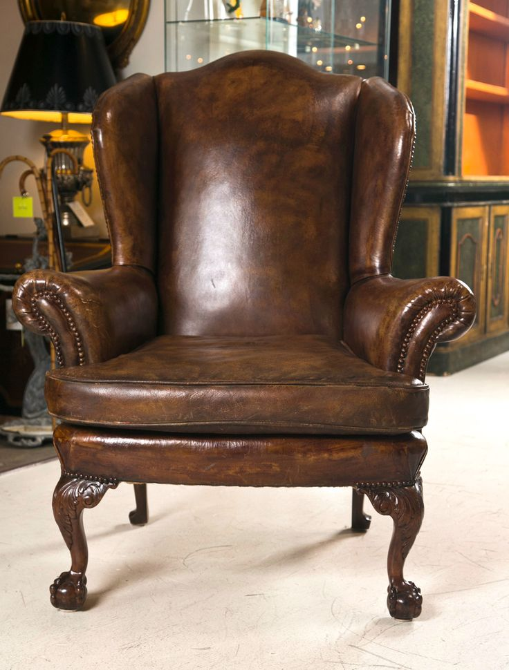 Decoration - Living Room Furniture With Antique Leather Wingback . - 105 Best Images About Leather Chairs On Pinterest Chair And