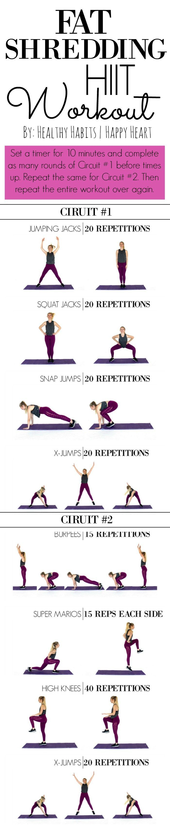 This HIIT workout is KILLER! Love it!