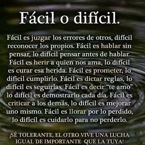 "2,195 Likes, 19 Comments - Sandra (@bendiciones_para_ti_) on Instagram: ""☘️~~~ Fácil o difícil...."""