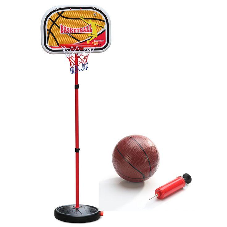 キッズ子供ミニチュアバスケットボールフープセットスタンドadjujstableでインフレータおもちゃ男の子用、115センチ、屋外楽しい&スポーツ