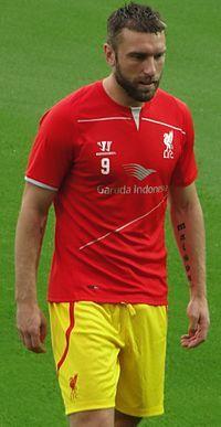 Rickie Lambert with Liverpool.