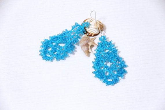 Guarda questo articolo nel mio negozio Etsy https://www.etsy.com/it/listing/450533838/orecchini-turchesi-chandelier-pizzo