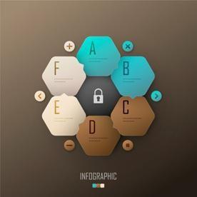 Six Hexagons Honeycomb Vector EPS Material Download