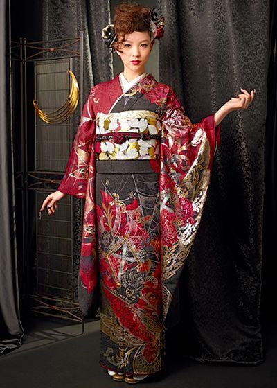 The long-sleeved kimono collection - clothes Halle Cloudy - kimono kimono rental sales group Japan Kimono system