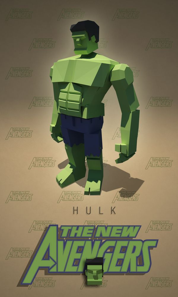 interesting case for what low-poly Hulk would look like!