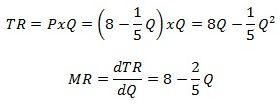 Marginal Revenue and the Demand Curve: Marginal Revenue is the Derivative of Total Revenue