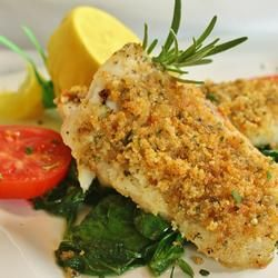 Baked Cod...bought cod at the store today and 30 minutes before dinner was on the table I had no idea what I was going to do with it.  Found this recipe and POW- dinner was a huge success.  I didn't have ritz so I used breadcrumbs and added a little onion and garlic powder.  Making this again very soon!!