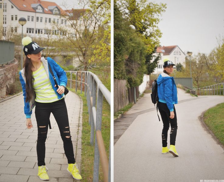 яркая обувь - неоновые кроссовки - как одеться ярко - стрит стайл - блог о моде
