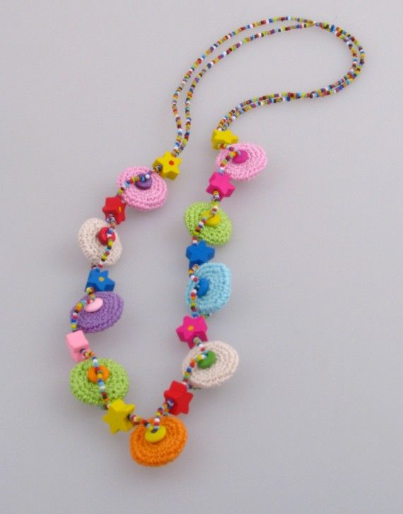 Crochet Summer Necklace Unique