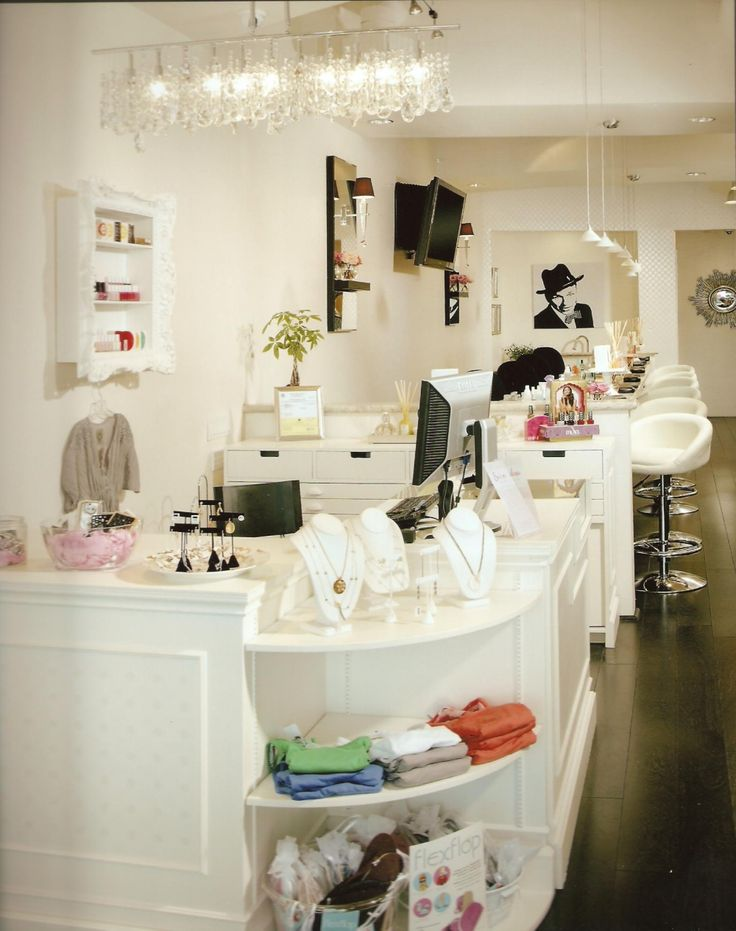 Nail salon manicure bar interior design idea in - Nail salon interior design photos ...