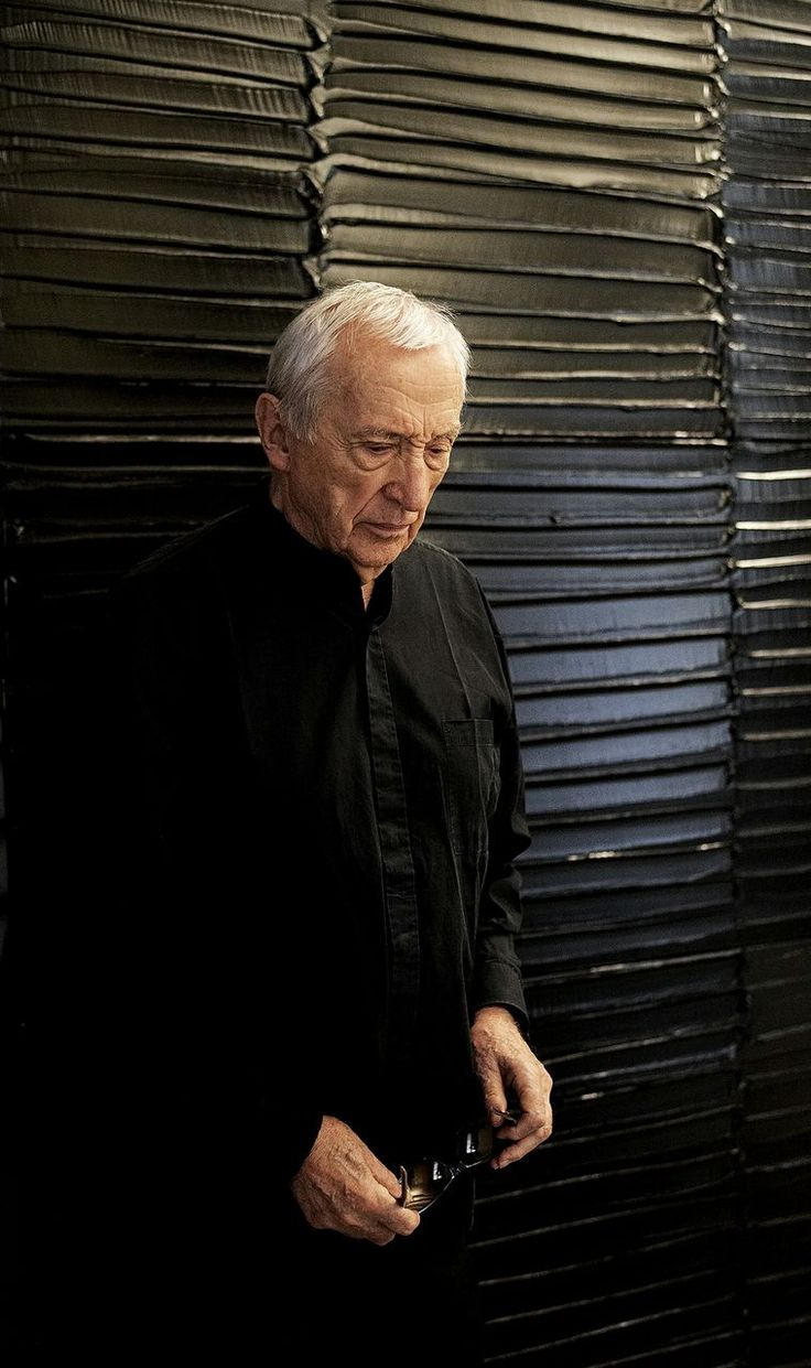 Pierre Soulages Photo: Courtesy Soulages Archives, 2014. Photo by © Vincent Cunillère Pierre Soulages at Dominique Lévy Gallery and Emmanuel Perrotin