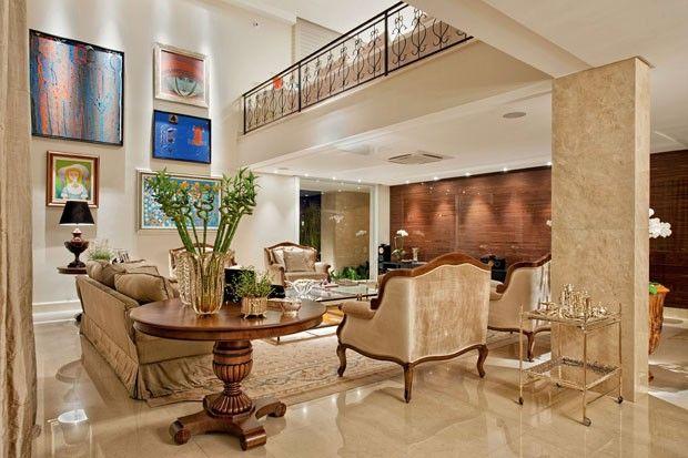 78da7315eb5 Décor do dia  luxo confortável Sala de estar em Goiás é também home theater
