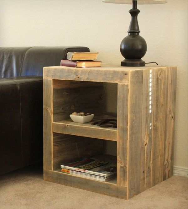 Reclaimed Wood Night Stand by delia