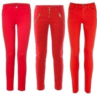 Красные брюки купить