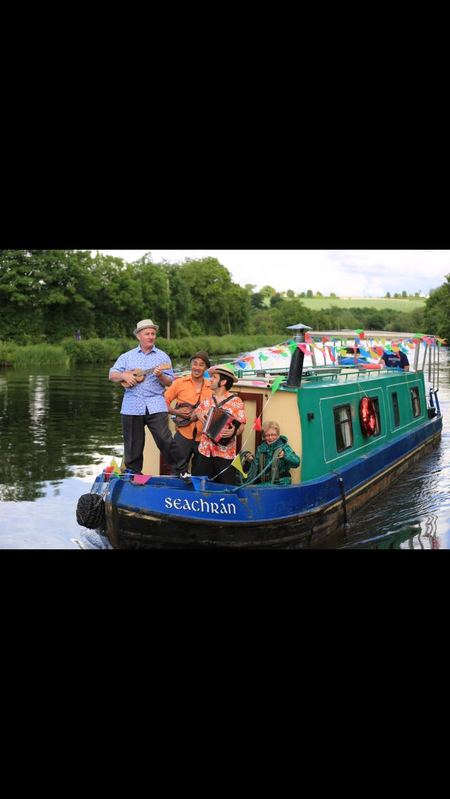 Barges on the barrow our floating mini festival at carlow arts festival  #carlowartsfestival #carlow #barge #barrow