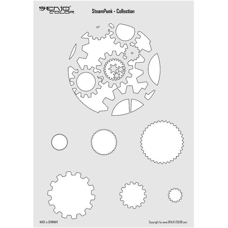 Steampunk Airbrush Schablone Zahnrad Design #steampunk #zahnrad #schablone