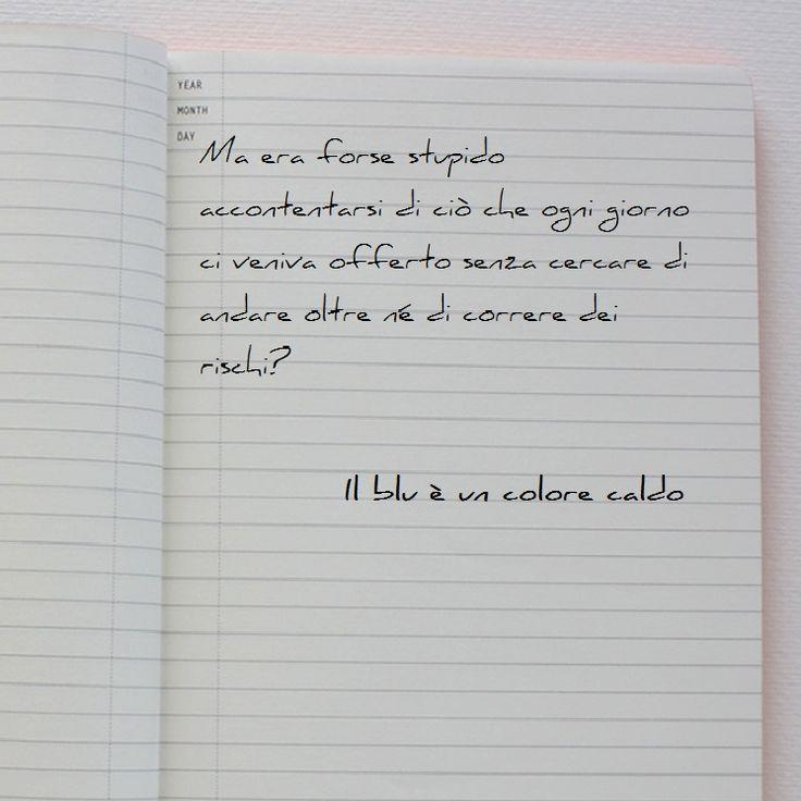#ilbluèuncolorecaldo #bump'squotes  http://www.giovaniadulti.it/il-blu-e-un-colore-caldo/