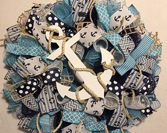 Sale summer wreath, beach wreath, nautical wreath, wreath, summer wreaths, beach wreaths, nautical wreaths, anchor wreath, beach wreath