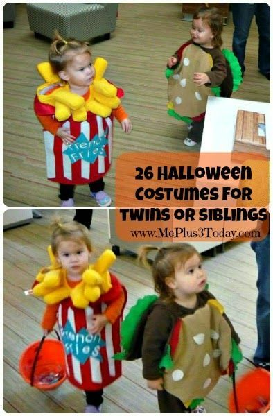 26 Unique Halloween Costumes for Twins or Siblings - You NEED to see the funny, creative, and original ideas! www.MePlus3Today.com