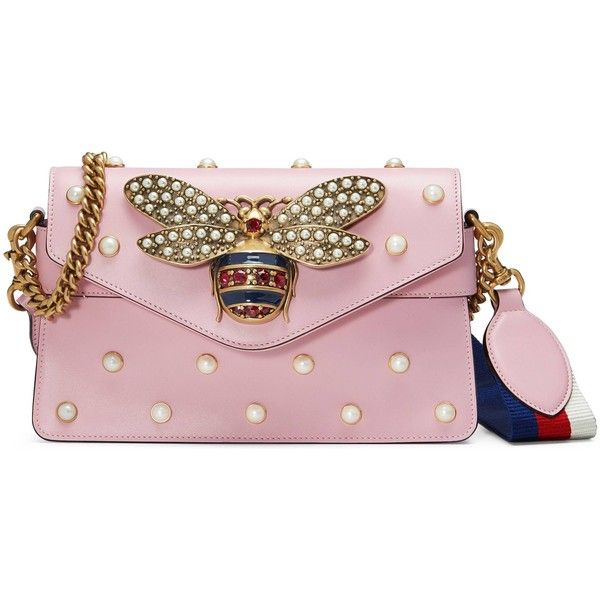 07b777b52236 Gucci Broadway Leather Clutch ($3,180) ❤ liked on Polyvore featuring bags,  handbags, borse, gucci, shoulder bags, women, light pink, pink purse, ...